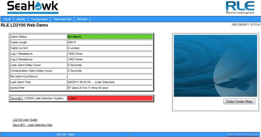 LD2100 Web Interface