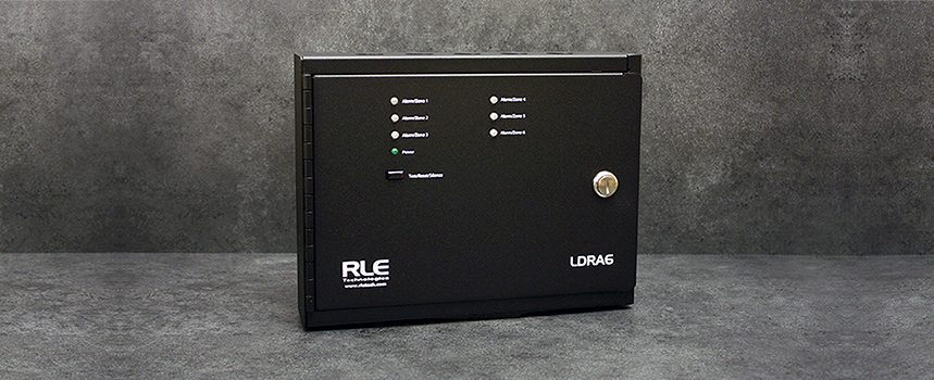 LDRA6 A six zone leak detection controller or a remote alarm annunciator