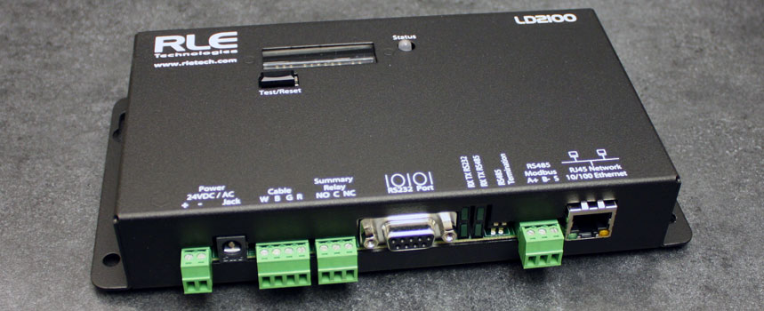 A detailed view of the LD2100 distance-read leak detection controller