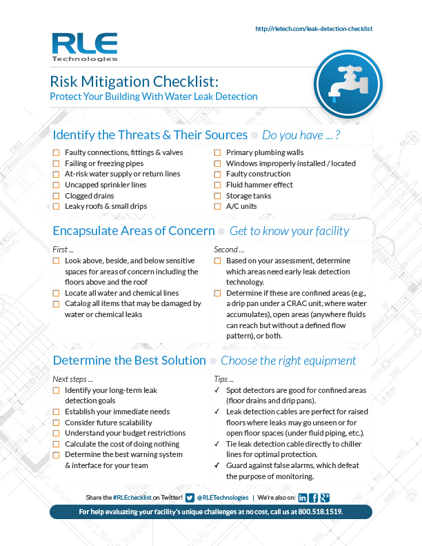 Leak Detection Checklist RLE Technologies