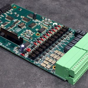 A Card, for use as an addition to a FMS unit. Supplies an additional 12 analog inputs and 8 relay outputs.
