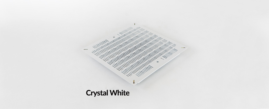 Triad Slotted Panel Crystal White